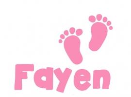 Geboortesticker babyvoetjes type Fayen