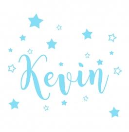Geboortesticker sterren type Kevin