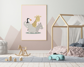 Poster met jungle dieren - poster babykamer of kinderkamer