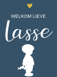 Geboortesticker full colour type Lasse