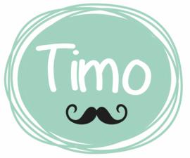 Geboortesticker jongen met snorretje type Timo