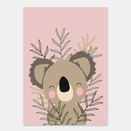 Poster met leuke koala - poster babykamer of kinderkamer