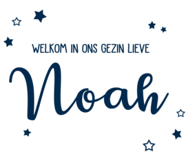 Geboortesticker voor een jongen type Noah