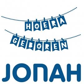 Geboortesticker slinger type Jonah