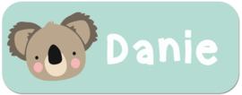 Naamstickers met Koala beertje type Danie