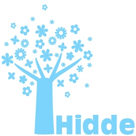 Geboortesticker Boom type Hidde