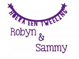 Geboortesticker type Robyn en Sammy