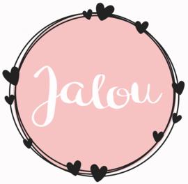 Geboortesticker full colour met cirkels en hartjes type Jalou