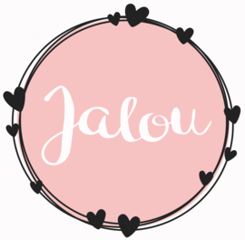 Geboortesticker full colour met cirkels en leuke hartjes type Jalou