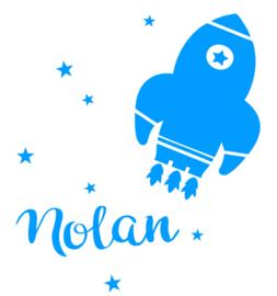 Geboortesticker met raket type Nolan