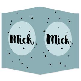 Geboortebord  - Geboortebord met stippen type Mick