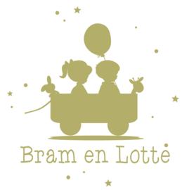 Geboortesticker voor een tweeling type Bram en Lotte