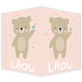 Geboortebord - Geboortebord raam met een schattige beer type Lilou