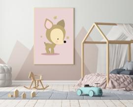 Poster met een schattig hertje - poster babykamer of kinderkamer