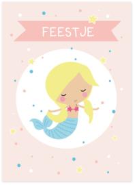 Uitnodiging kinderfeestje Zeemeermin