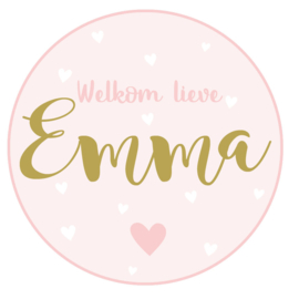 Geboortesticker full colour type Emma