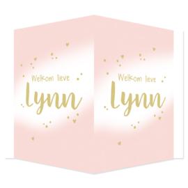 Geboortebord - Geboortebord met leuke stipjes en hartjes type Lynn