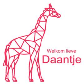 Geboortesticker geometrische giraf type Daantje