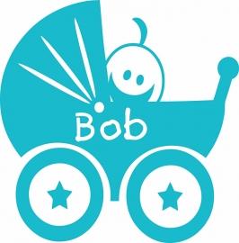 Geboortesticker type Bob