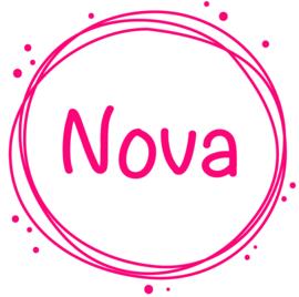 Geboortesticker cirkels en stipjes type Nova