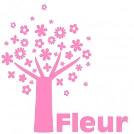 Geboortesticker boom type Fleur