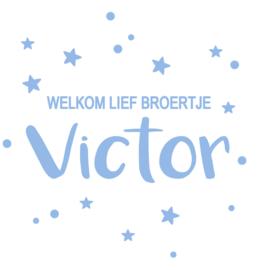 Geboortesticker met stipjes en sterren type Victor