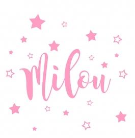 Geboortesticker sterren type Milou
