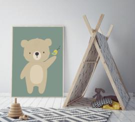 Poster met beer - poster babykamer of kinderkamer