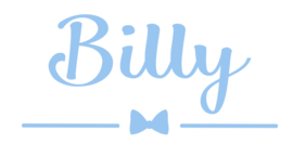Geboortesticker met strikje type Billy