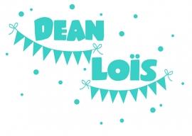 Geboortesticker type Dean en Loïs