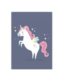 Poster kinderkamer met eenhoorn fantasie unicorn - Poster babykamer of kinderkamer