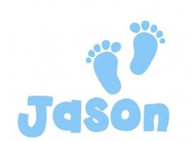 Geboortesticker babyvoetjes type Jason.