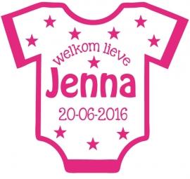 Geboortesticker romper type Jenna