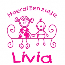 Geboortesticker type Livia