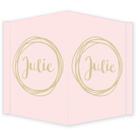 Geboortebord - Geboortebord raam met leuke cirkels type Julie