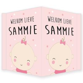 Geboortebord - Geboortebord raam met baby type Sammie