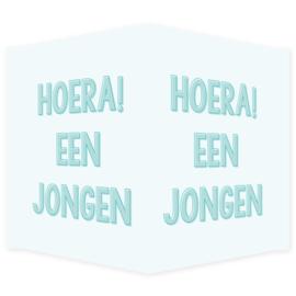 Geboortebord - Geboortebord met de tekst 'Hoera! Een jongen'.