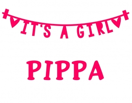 Geboortesticker it's a girl type Pippa