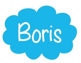 Geboortesticker wolk type Boris