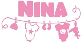 Geboortesticker waslijn type Nina
