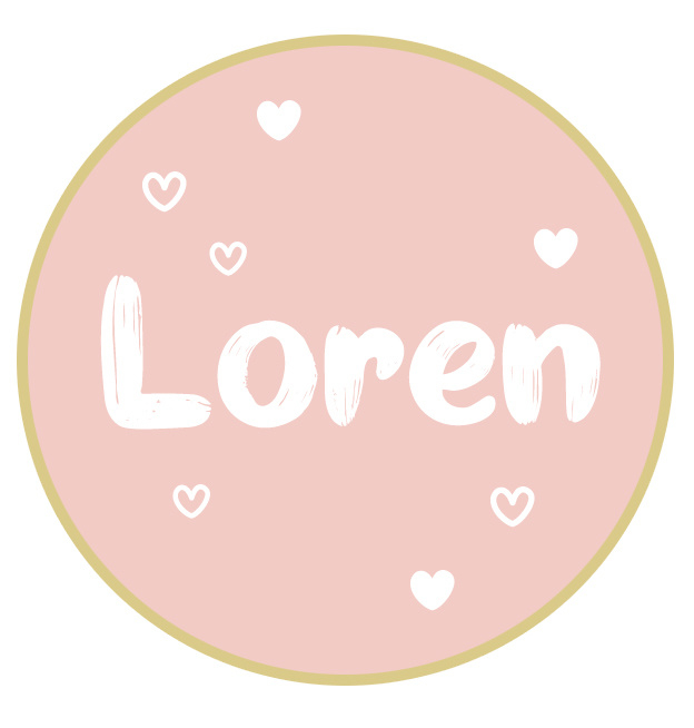Geboortesticker full colour Loren