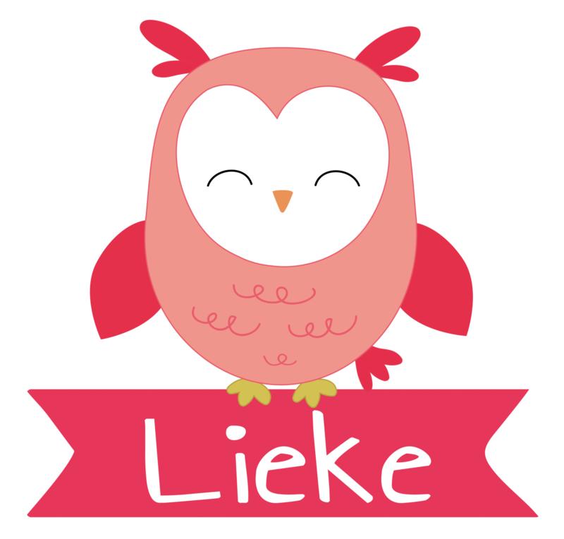 Geboortesticker met een leuke uil type Lieke