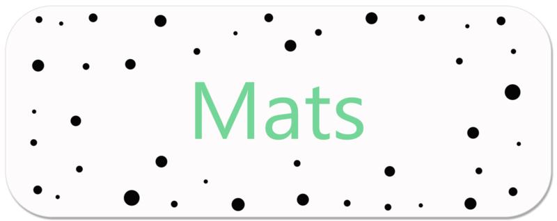 Naamstickers jongen met stippen type Mats