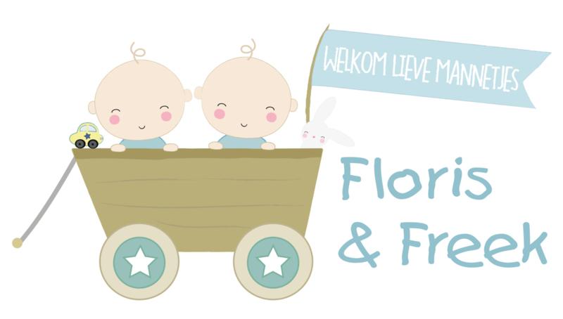 Geboortesticker tweeling type Floris en Freek