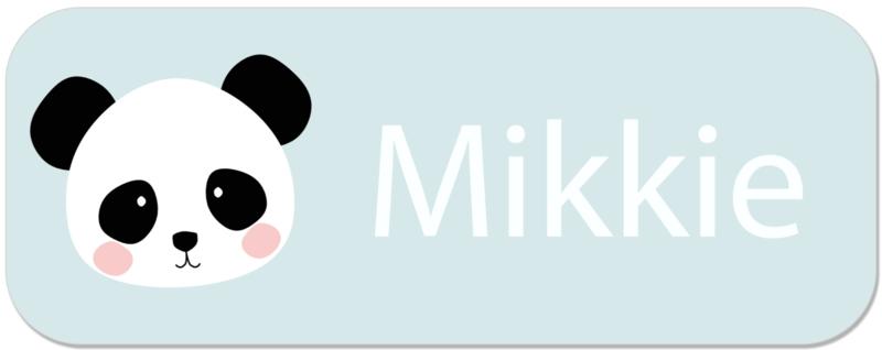 Naamstickers met leuke panda type Mikkie