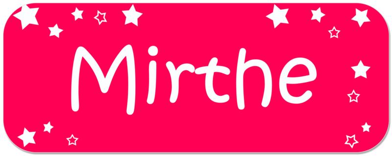 Naamstickers met sterretjes type Mirthe