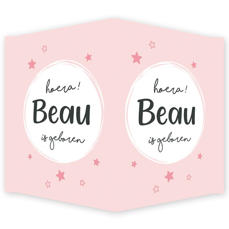 Geboortebord - Geboortebord met leuke sterretjes type Beau