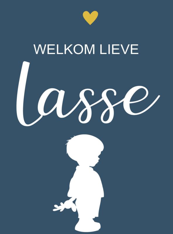 Geboortesticker full colour type Lasse