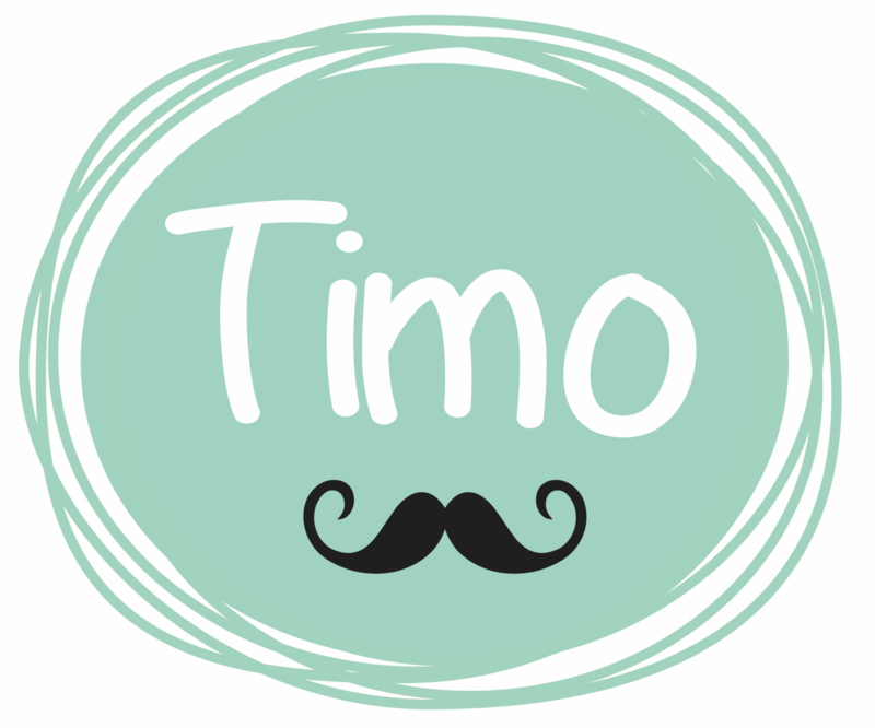Geboortesticker full colour met snorretje type Timo