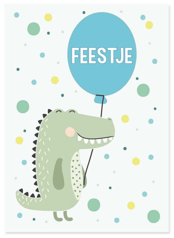 Uitnodiging kinderfeestje krokodil